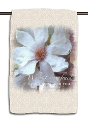 Psalm 56.3 Flower Towel