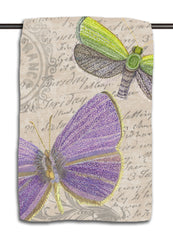 Purple and Green Butterfly Towel