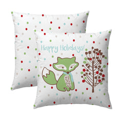 Fox Happy Holidays Pillow