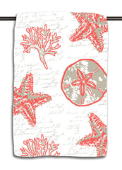 Shell Writing Coral Towel