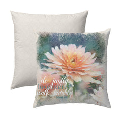 Do Justly, Love Mercy, Walk Humbly Flower Pillow