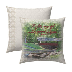 Psalm 103.5 Bridge Pillow
