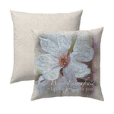 Psalm 56.3 Flower Pillow