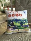 Welcome to the Farm Watercolor Pillow