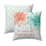 Ecclesiastes 3.11 Aqua Links Pillow