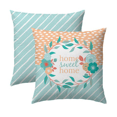Home Sweet Home Aqua Pillow