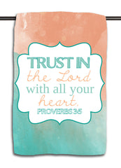 Proverbs 3.5 Aqua - Trust in the Lord Towel