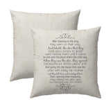 Matthew 2.9-11 Vintage Map Pillow