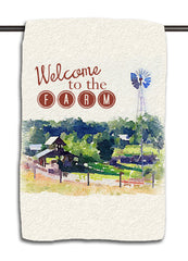 Welcome to the Farm Watercolor Towel