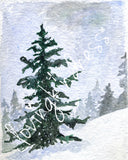 Winter Wonderland - Set of 4 note cards - 5-1/2 x 8-1/2 - Envelopes Included