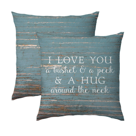 Bushel & A Peck-Wood Pillow