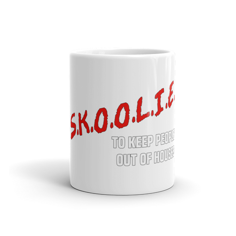 SKOOLIE - Keeping People Out of Houses Mug - SkoolieLove Store