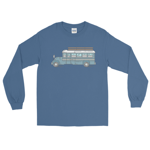 Big Blue Bus - Long Sleeve T-Shirt - SkoolieLove Store