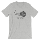 Snail Friend Tiny Living - Unisex Short Sleeve Shirt