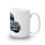 Big Blue Skoolie Bus Mug
