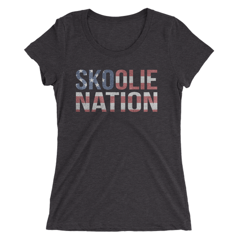 America is a SKOOLIE NATION - Ladies' Tee