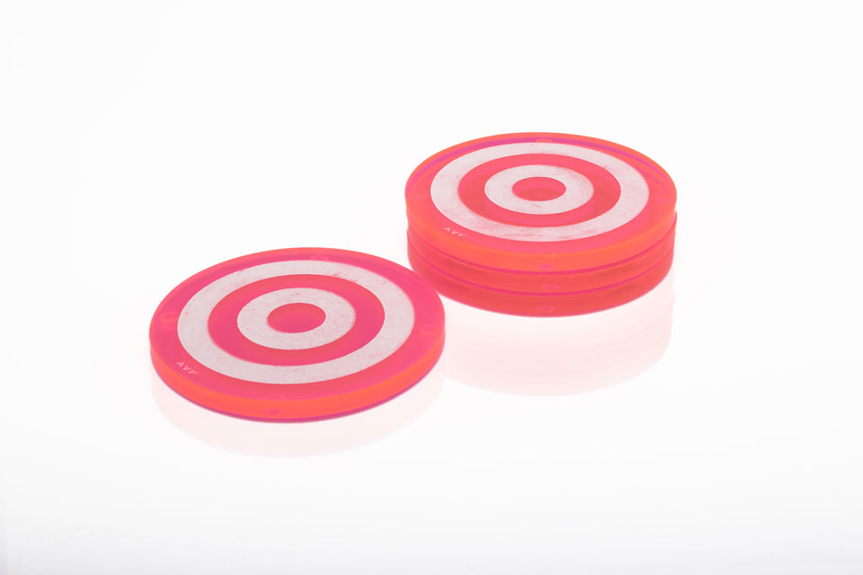 Bullseye Coaster Set in Pink
