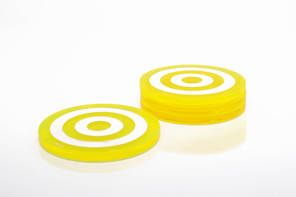 Bullseye Coaster Set in Yellow