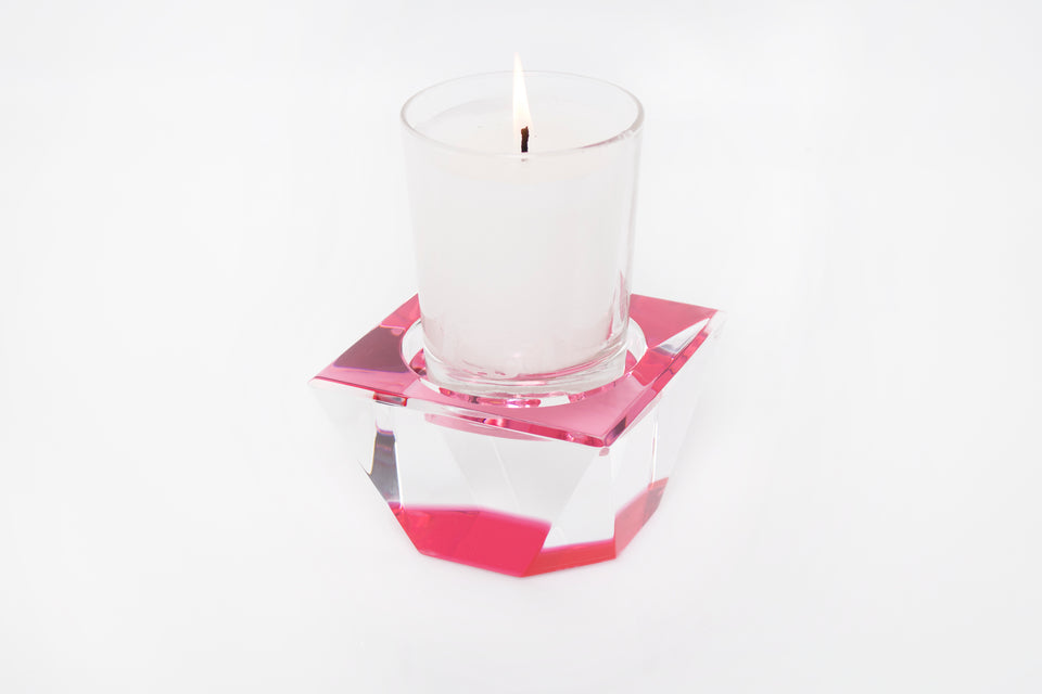 Candle Pedestal in Rose