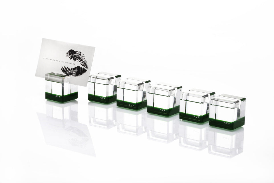 Rock Blocks Placecard Holder Set in Emerald