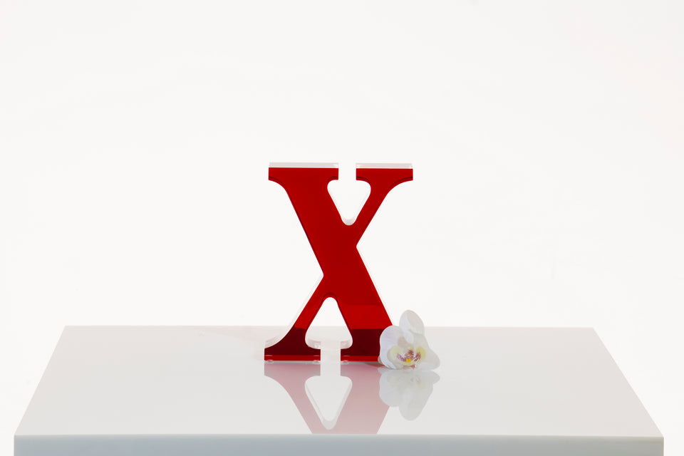 X Objet in Ruby, Limited Edition **2-3 wk lead time**