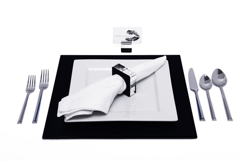 Square Placemat Set in Black