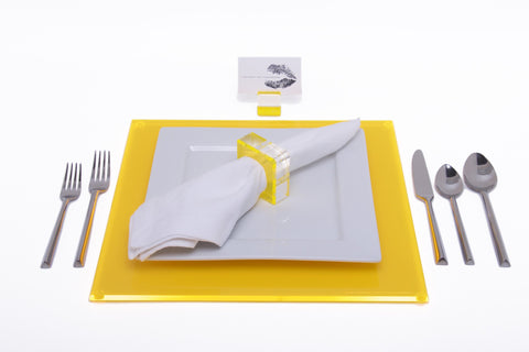 F109 | Sq Placemat, Yellow, S4