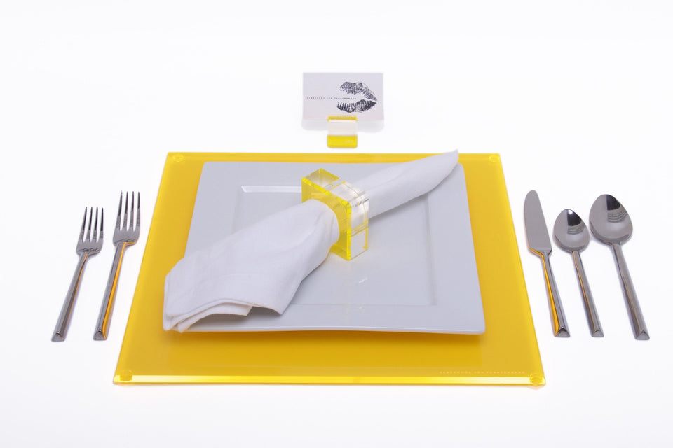 Square Placemat in Yellow