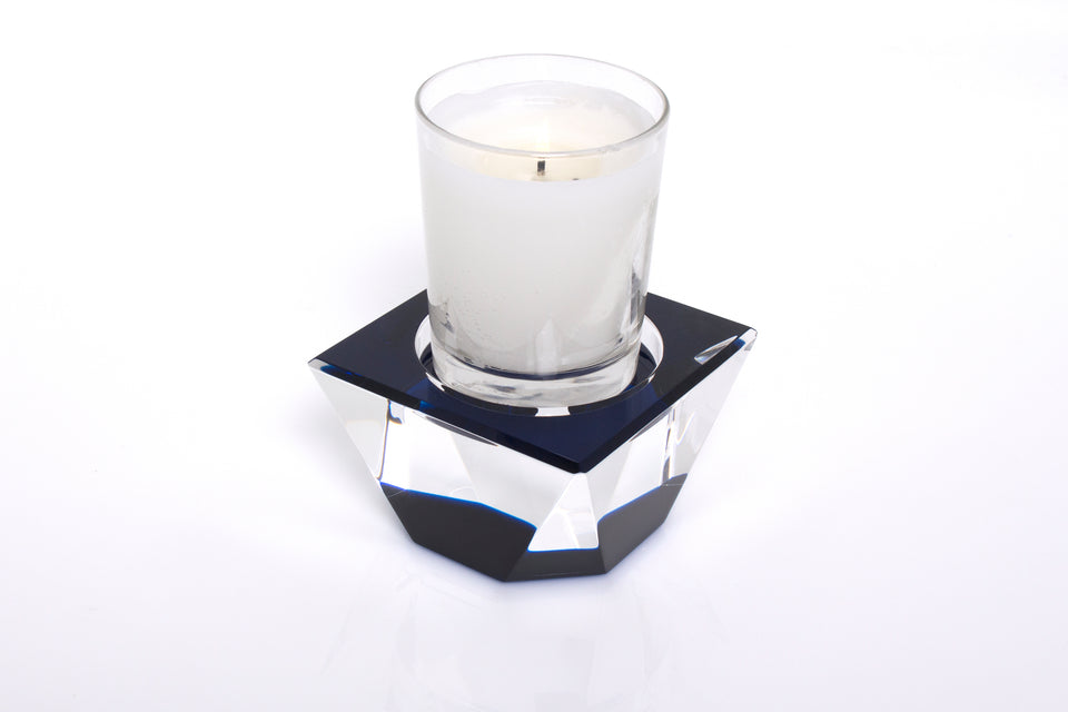 Candle Pedestal in Sapphire