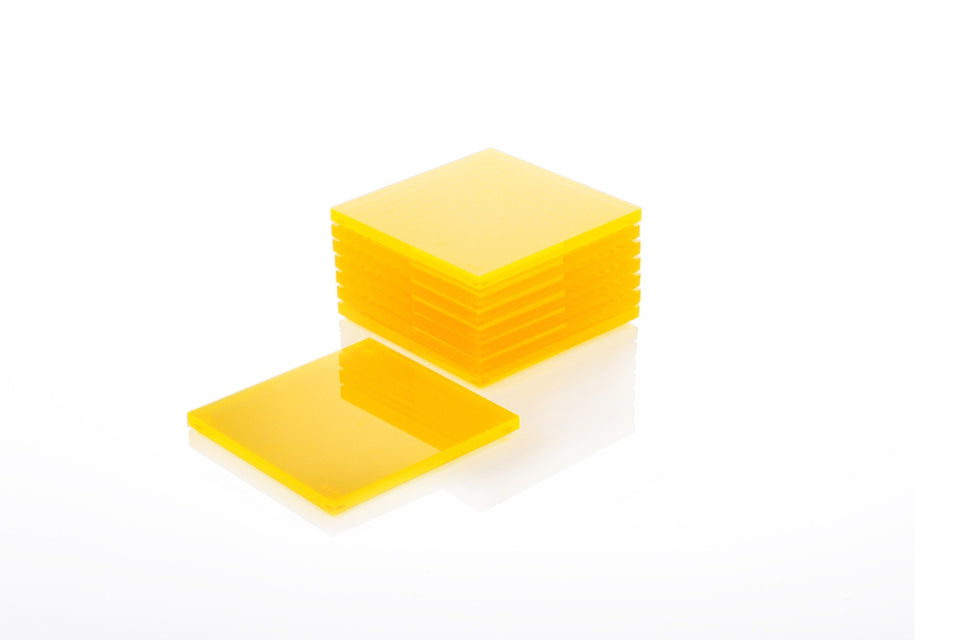 Coaster Set in Yellow