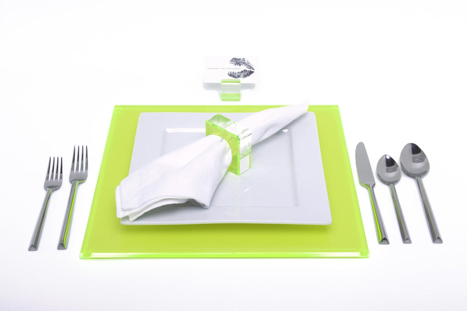Square Placemat Set in Green