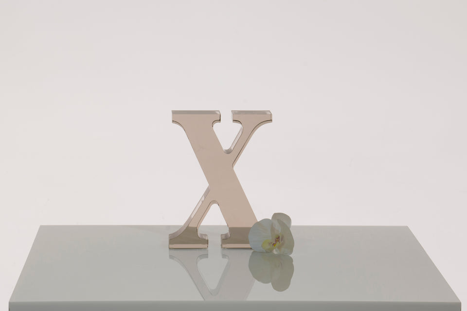 X Objet in Bronze, Limited Edition **2-3 wk lead time**