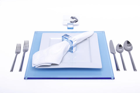 F109 | Sq Placemat, Blue, S4