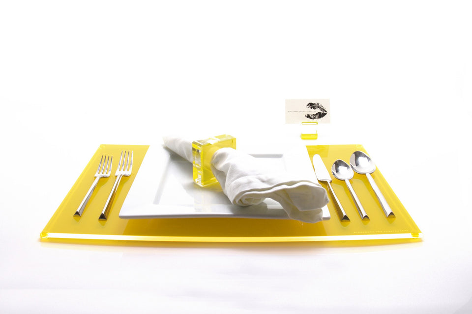 Rectangle Placemat Set of 4 in Yellow