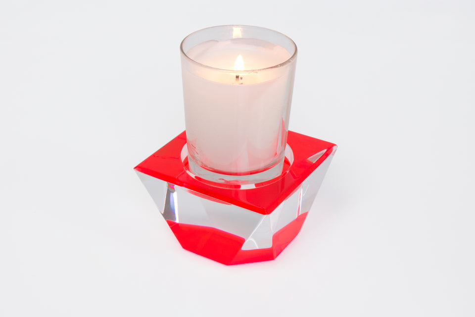 Candle Pedestal in Red