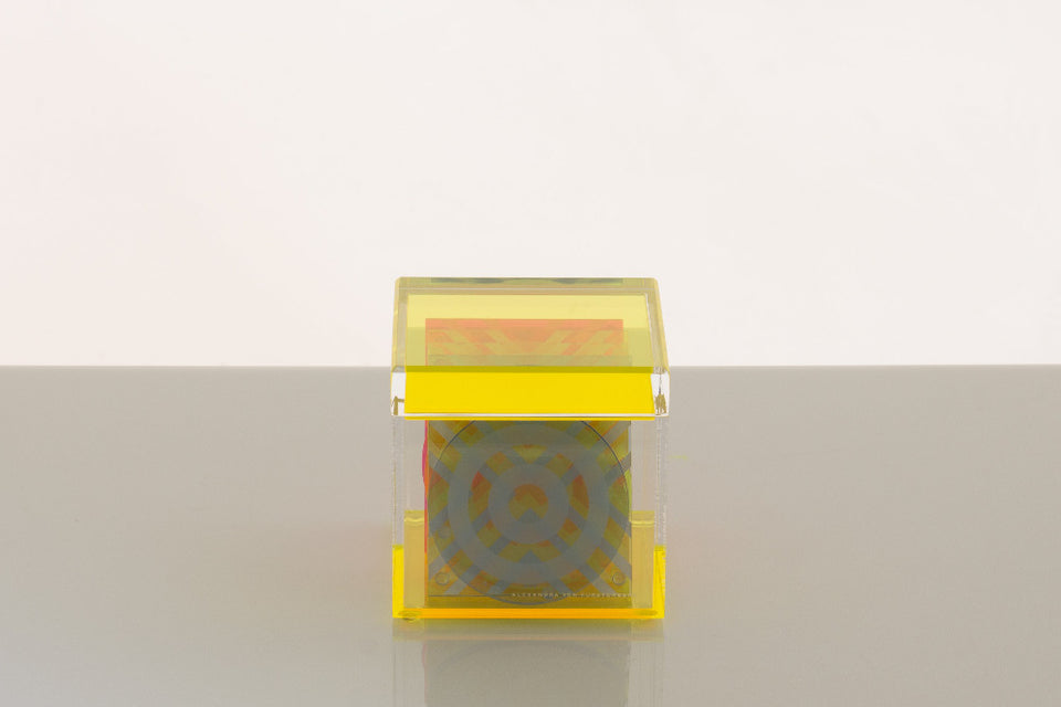 Cubic Treasure Box in Yellow