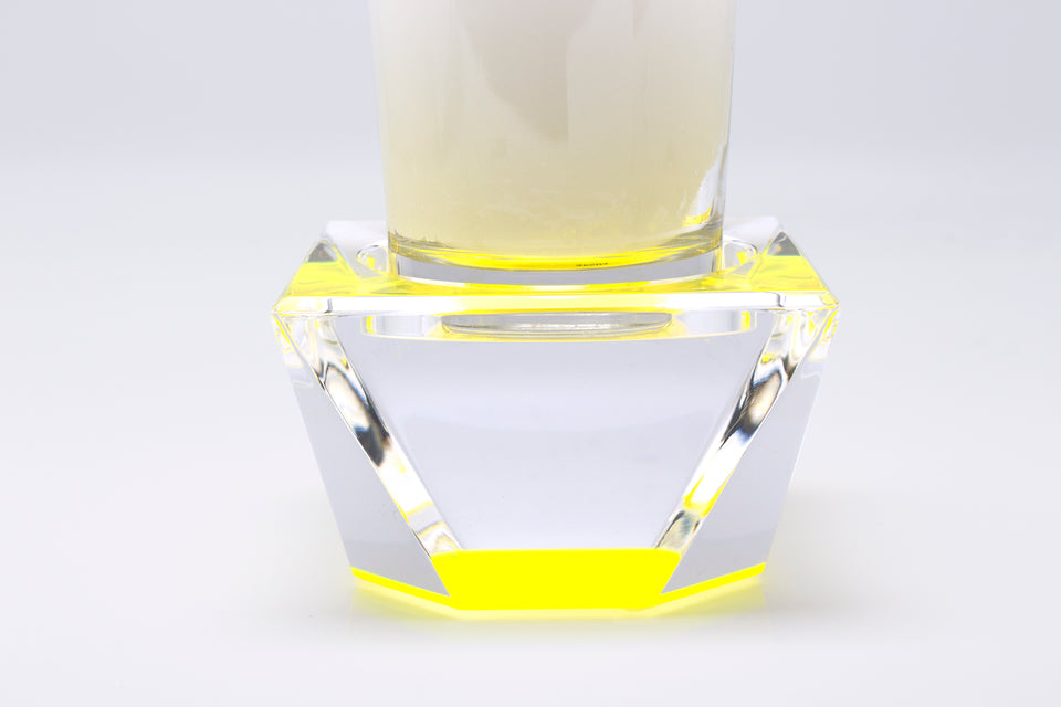 Candle Pedestal in Yellow
