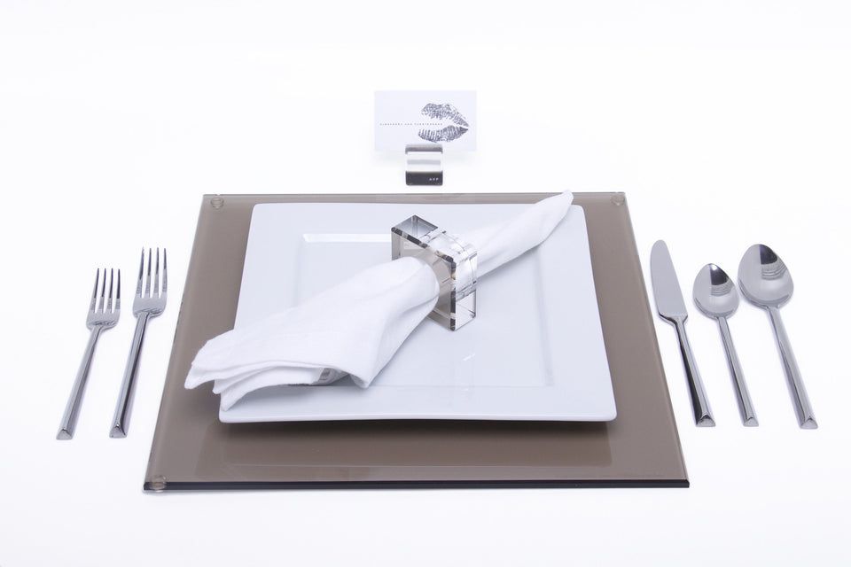 Square Placemat Set in Bronze