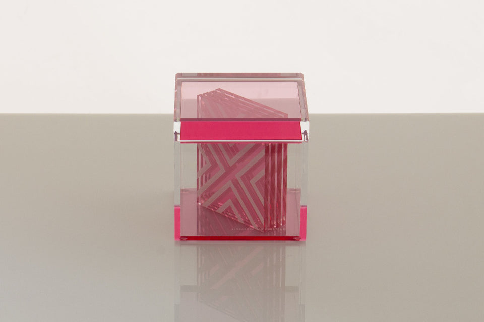 Cubic Treasure Box in Rose