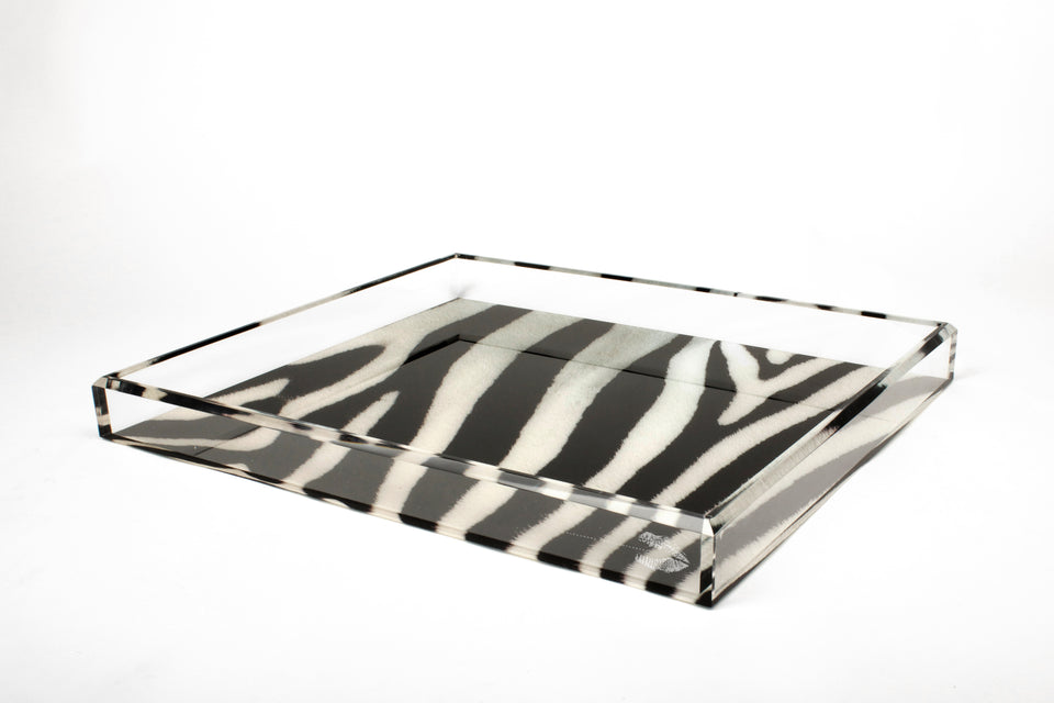 Tray in Zebra Print
