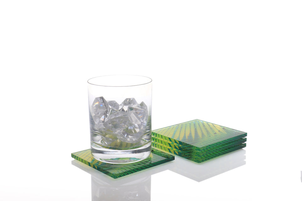Coaster Set in Palm Print - brand new and ready to ship now!