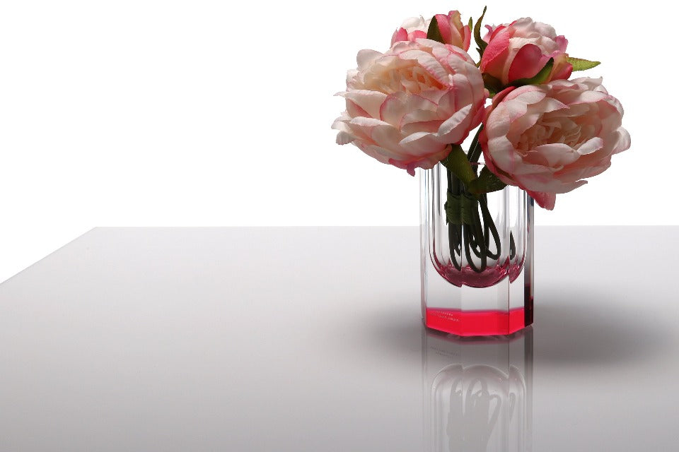 Bolt Vase in Rose