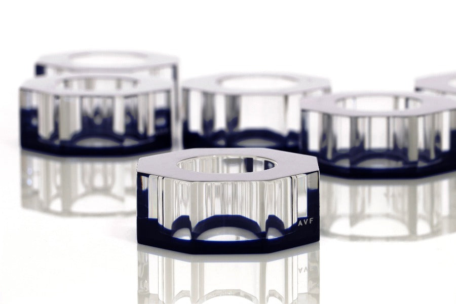Bolt Dining Ring Set in Sapphire - TEMPORARILY UNAVAILABLE DUE TO PANDEMIC LIMITS AT OUR FACTORY