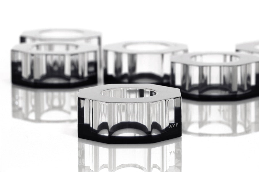 Bolt Dining Ring Set in Black - TEMPORARILY UNAVAILABLE DUE TO PANDEMIC LIMITS AT OUR FACTORY