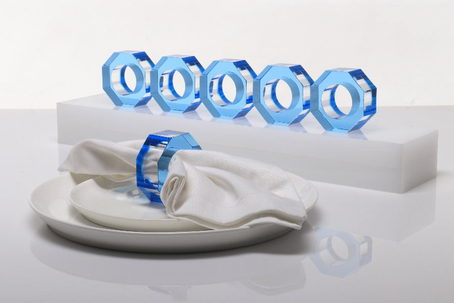 Bolt Dining Ring Set in Lagoon - TEMPORARILY UNAVAILABLE DUE TO PANDEMIC LIMITS AT OUR FACTORY