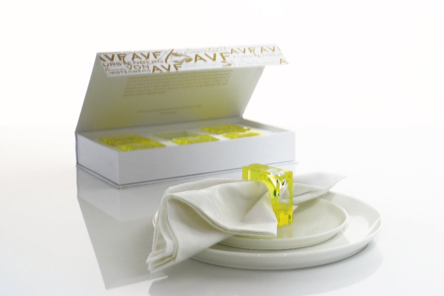 Dining Rings Set in Yellow