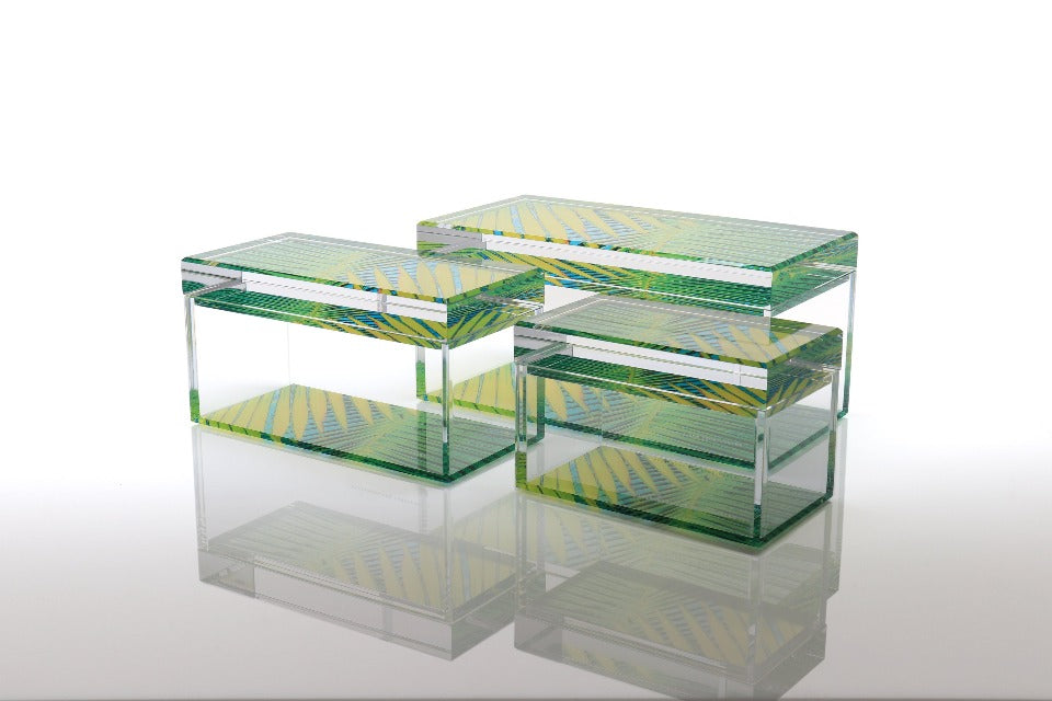 Treasure Box in Palm Print- brand new and ready to ship now!