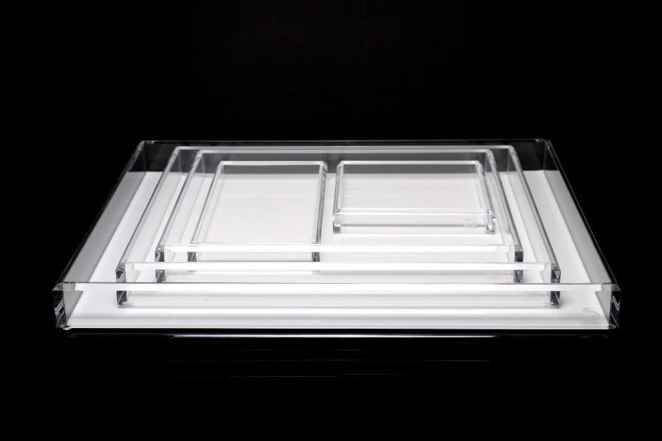 Tray in White