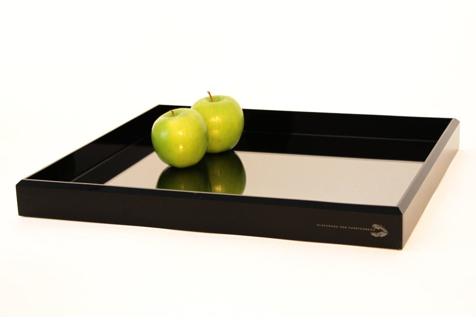 Vanity Mirror Tray in Black
