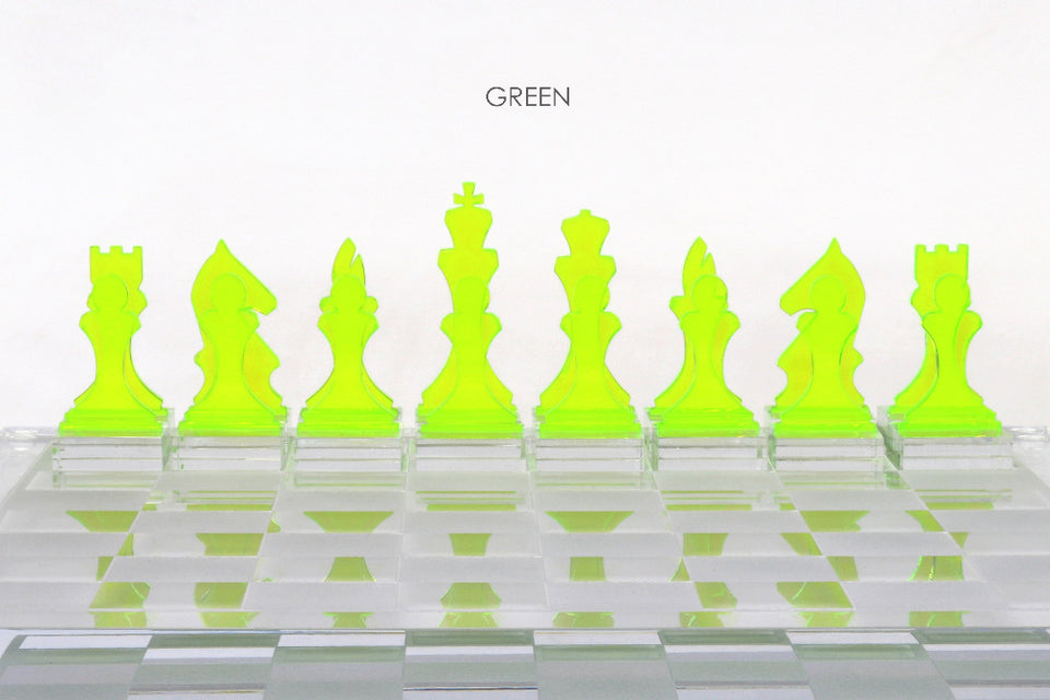 AVF Chess Piece Set of 16 Green (Due to Pandemic, Made to Order with 4-8 week lead time)